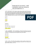Lista 01 - Matematica Financeira
