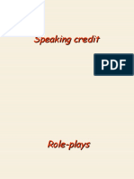 For a speaking credit