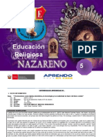 EXPERIENCIA DE APREND.-ED.RELIGIOSA -5°