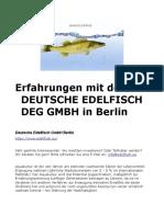 Deutsche Edelfisch GmbH - Erfahrungen Zanderzucht