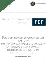 NÃOPode Um Homem Divorciado Ser Pastor 5pg.