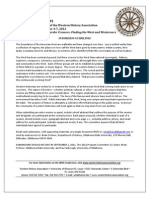 52nd Annual Conference of the Western History Association - Call For Papers