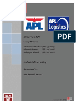 Industrial Marketing - Term Report - APL Pakistan - Ashfaque - Masood - Farhan