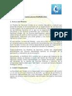 Convocatoria Oficial PAZMUN 2011