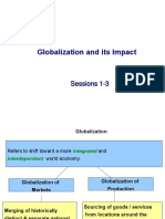Sessions 1-3- Globalization and its impact