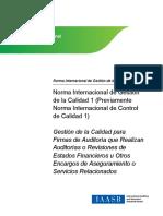 IAASB Quality Management ISQM 1 Quality Management for Firms 1 Esp 1 Ok