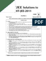 IIT JEE 2011 paper-1 FIITJEE