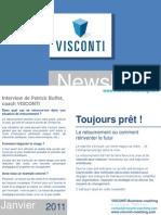 Visconti - newsletter Janvier 2011 - Toujours prêt !