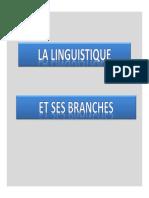 linguistique et ses branches