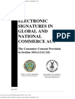 (Esign) ELECTRONIC SIGNATURES IN GLOBAL AND NATIONAL COMMERCE ACT