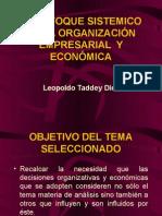 (03) EL ENFOQUE SIST. en la org. y econ. (Dr. Taddey)