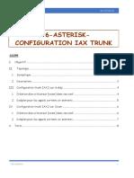 Chapitre 9 TP6 Asterisk - Configurattion IAX trunk entre deux PBX