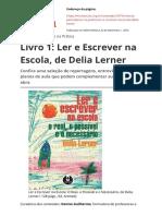 Livro 1 Ler e Escrever Na Escola de Delia Lernerpdf (1)