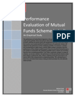 Performance Evaluation of Mutual Funds Scheme in India - An Empirical Study