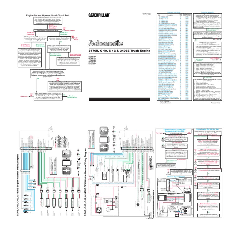 diagrama 3406e turbocharger throttle rh scribd com Caterpillar Hydraulic Schematics Caterpillar Engine Schematics