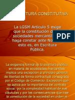LA ESCRITURA CONSTITUTIVA