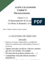 IEC Clases 5 y 6 Microeconomia OFERTA DEMANDA EQUILIBRIO