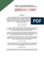 Análisis descriptivo de los tests de condición física futbol boliviano