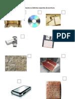 Ordena cronolóxicamente os distintos soportes de escritura 2º e 3º ciclo