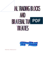 REGIONAL TRADE BLOCKS AND BILATERAL TRADE TREATIES