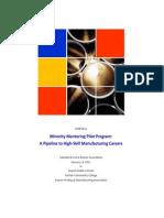 Minority Mentoring Pilot Program Proposal