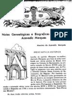 Páginas da Revista Gen.Brasileira - Família Azevedo Marques