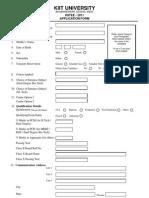 KIITEE Download ApplicationForm
