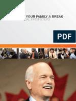 NDP National Platform - 2011