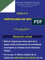 6. Certificado de Defunción 2020