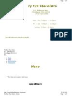 Tyfunthaibistro menu