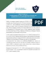 Circular Cumplimento Recomendaciones Bioseguridad FNI2021