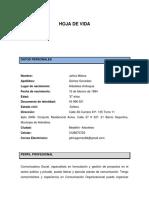 HOJA DE VIDA ACTIALIZADA  JAHIRA GOMEZ -21-04-2021