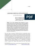 BRESSER Reforma Gerencial 1995