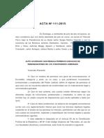 ACTA 111-2015 Auto Acordado que regula permisos con goce de remuneraciones