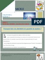 1ere S - Chimie - Chapitre 1 - La Mole - Partie 1