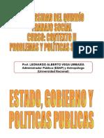 ESTADO, GOBIERNO Y POLITICAS PUBLICAS