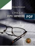 Velimir Mihajlovic - Srpski Prezimenik
