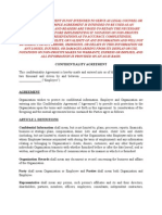 Sample Confidentiality Agreement for Non-profits