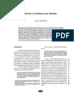 BATISTA, Analía L. S. Estado e Controle Nas Prisões