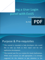 Designing a User login panel with ExtJS for beginners