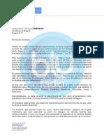 Carta MinDefensa a Claudia López