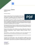Carta de MinDefensa a Claudia López