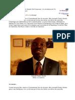 Abanda Armand au Messager la revolution des tic une chance pour Afrique