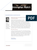 Innovation Watch Newsletter 10.08 - April 9, 2011