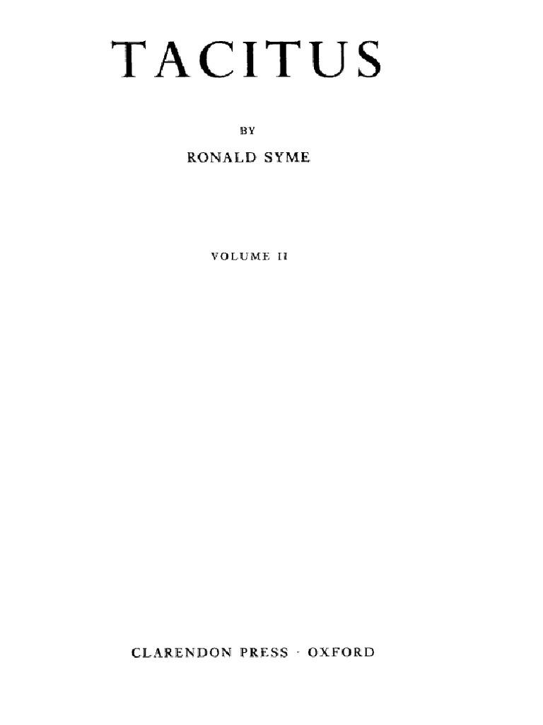 Ay Pllin Porno tacito # syme, tacitus (in) bb (v. 2)
