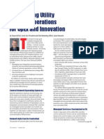 Outsourcing Utility Networks Operations for OpEx and Innovation
