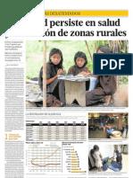 Inequidad persiste en salud y educación en zonas rurales