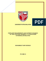 Fertilizer requirement Malasya