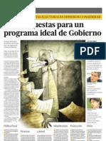 Las Propuestas Para Un Programa Ideal de Gobierno