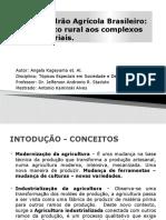 O Novo Padrão Agricola Brasileiro do Complexo Rural aos Complexos Agroindustriais